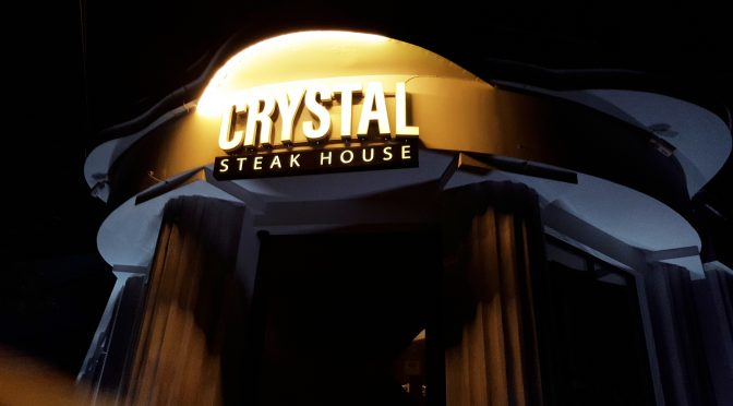 Sign of Crystal Steak House by placescases.com